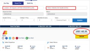 Unpublished Flight Deals to Paris